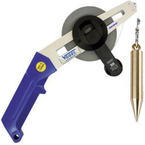 14253 Measuring Tape with aluminium diagonal frame 10-50m, carbon steel, plumb 2