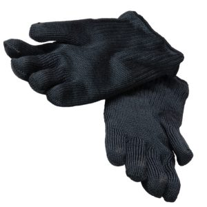 Pair of gloves heat resistant up to 300°C black