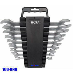 100-KH9 Double Open Ended Spanner Set, size 6-23mm, DIN 3110 - Elora Germany
