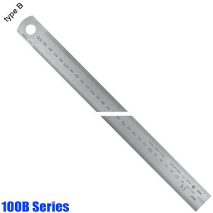 100B Series Stainless Steel Rules, reading from left to right, type B