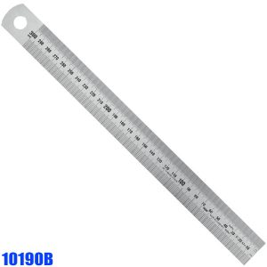 10190B Stainless Steel Rules, type B top ½ mm and bottom 1/1 mm graduation