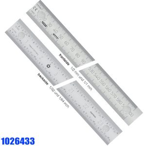 1026433 Stainless Steel Rules, with magnetic inserts, reading from left to right