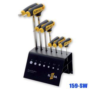 159-SW Hexagon key set, size 2-8mm. ELORA Germany