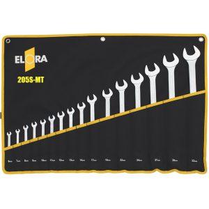 205S MT bộ cờ lê vòng miệng loại dài trong túi vải treo, chuẩn DIN 3113B