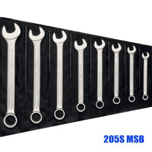 205S MSB Series  Combination spanner set, in plastic rolling pouch
