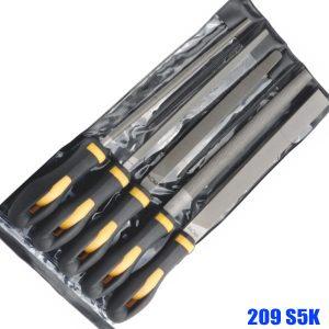 209 S5K Machinist's file set, 5 pcs in plastic pouch, size 200mm