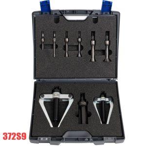 372S9 Bộ cảo trong 9 chi tiết, đường kính lỗ Ø 10–75 mm. 372S9 internal extractor set, ball bearing puller and bushinger