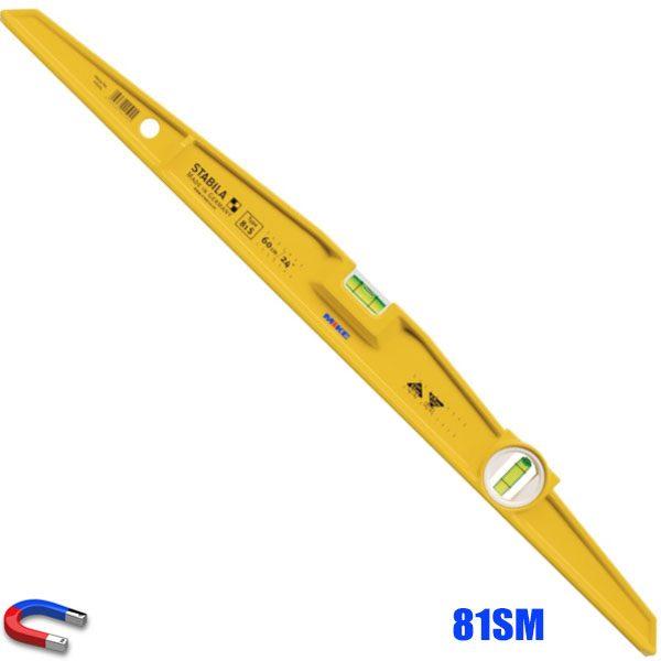 81SM thước thủy từ tính, nhôm đúc chữ I nguyên khối, 2 bọt thủy