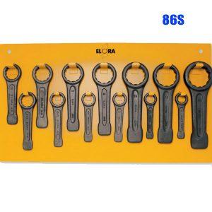 86S Ring slogging spanner-set, 895 x 500 mm, according to DIN 7444