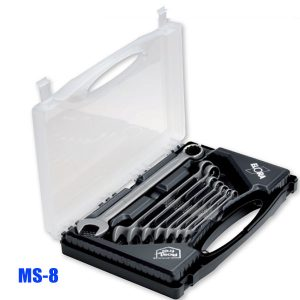 MS-8 Combination spanner set, stainless, according to DIN 3113, Form B