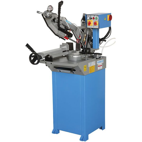 0692- metal band saw with manual and hydraulic feed