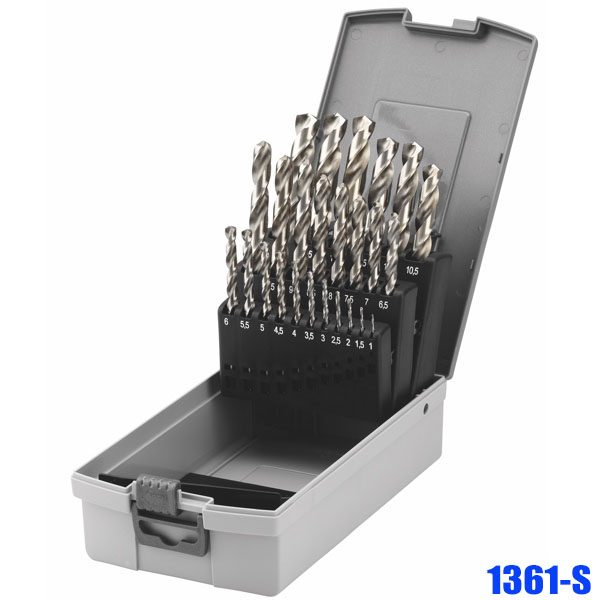 1361-S Set of twist drills HSS-G 19-25 pcs, according to DIN 338 type N