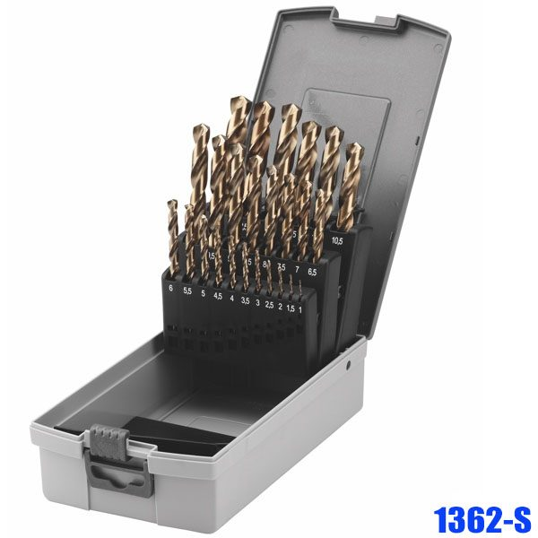 1362-S Set of twist drills HSS-E 19-25 pcs, according to DIN 338 type N