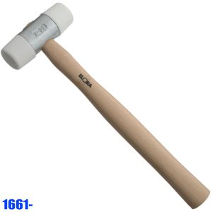 1661- Plastic hammer, length 250-335mm, DIN 53505, 55 shore D