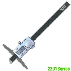 2201 Series Electr. Digital Depth Caliper • IP54, mm/inch switchable