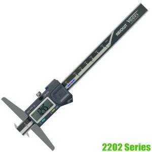 2202 Series Electr. Digital Depth Caliper • IP54, top model for industry purposes