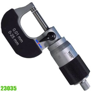 23035 PExternal Micrometer DIN 863, with 100-step graduation