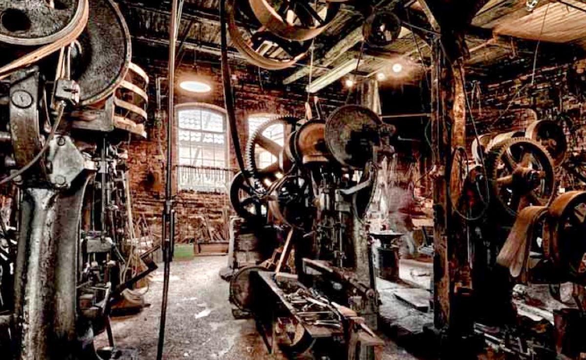 Xưởng sản xuất mũi khoan gỗ của FAMAG năm 1862