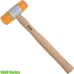 1660 Series Soft faced hammer head 22-60mm, DIN 53505, 65 shore D