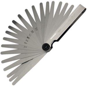 188 Series Feeler gauge, blade length 100 mm. Elora Germany
