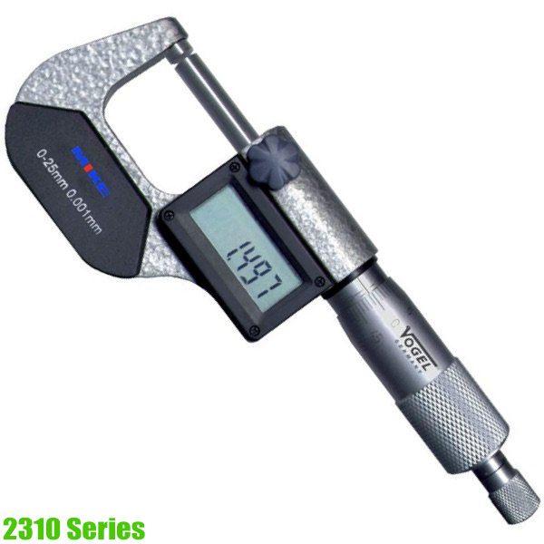 2310 Series Electr. Digital Micrometer DIN 863. Made in Germany
