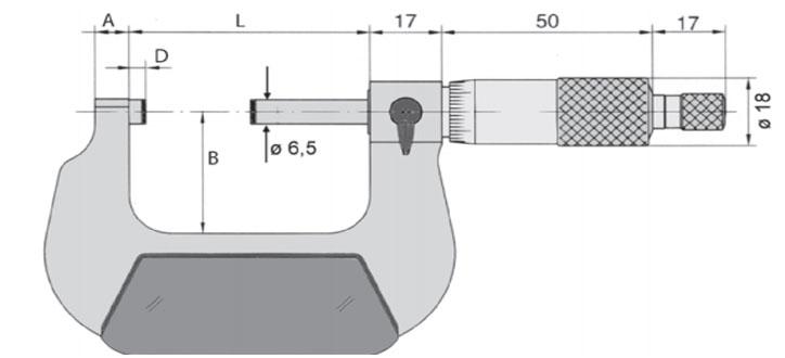23137 Series Panme cơ đo ngoài 0-4 inch, độ chính xác 0.0001 inch, sản xuất tại Đức