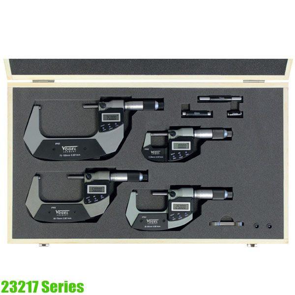 23217 Series Electr. Digital Micrometer Set  IP65 DIN 863