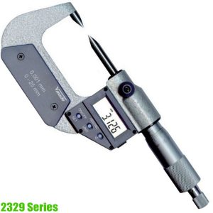 2329 Series Electr. Digital Micrometer DIN 863, with 30° and 15° measuring tips