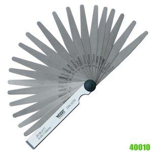 40010 Series Precision Feeler Gauge Sets tolerance acc. to T3 (DIN 2275)