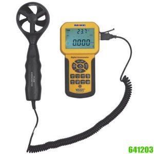 641203 Electr. Digital Anemometer 0.3 – 45 m/s