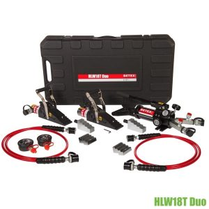 HLW18T-Duo hydraulic wedge set 36 ton BETEX