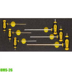 OMS-26 Module hexagon key set with T-handle 2-6mm
