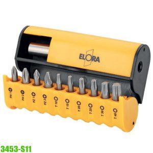 "3453-S11 bit box 1/4"", 11 pcs. ELORA Germany"