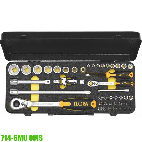 """714-6MUOMS SOCKET SET 1/4"""" AND 1/2"""", COMBINED"""
