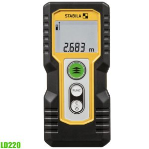 LD220 laser distance measurer. Measuring distance  0.2 – 30 m