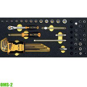 """OMS-2 Module socket set 1/4"""", for Elora roller tool cabinets"""