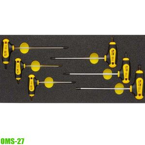 OMS-27 Modul-torx key set with T-handle, for Elora roller tool cabinets