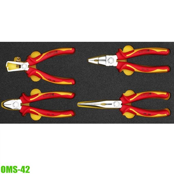 OMS-42 Module VDE pliers 4 pcs for Elora roller tool cabinets