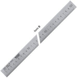 1692 Series Precision Graduated Straight Edge, quality DIN 866 form B