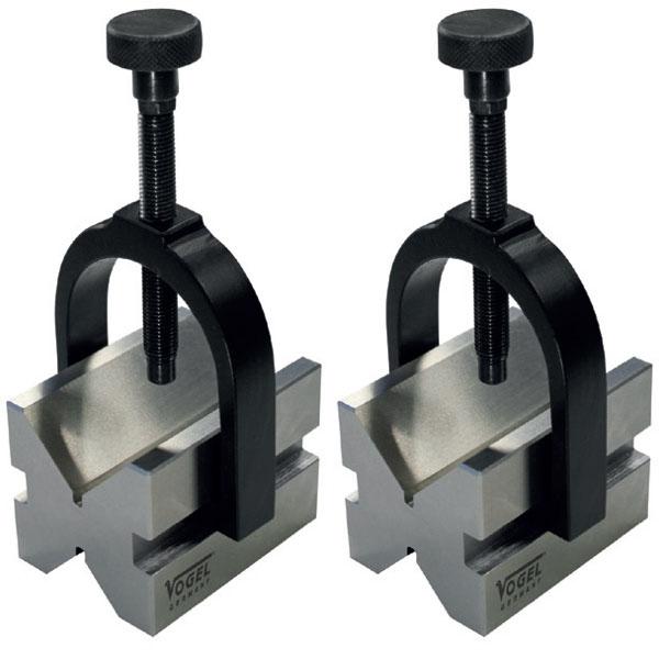 3330 Series V-Block Pair with Clamps,  Ø5 – Ø70mm. Vogel Germany