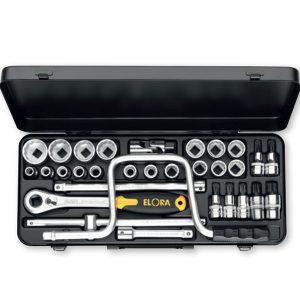 """770/771-LXZ Socket Set 1/2"""", 31 pcs. ELORA Germany"""