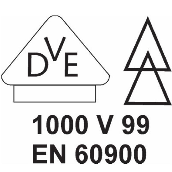 biểu tượng VDE 1000V, chuẩn EN 60900