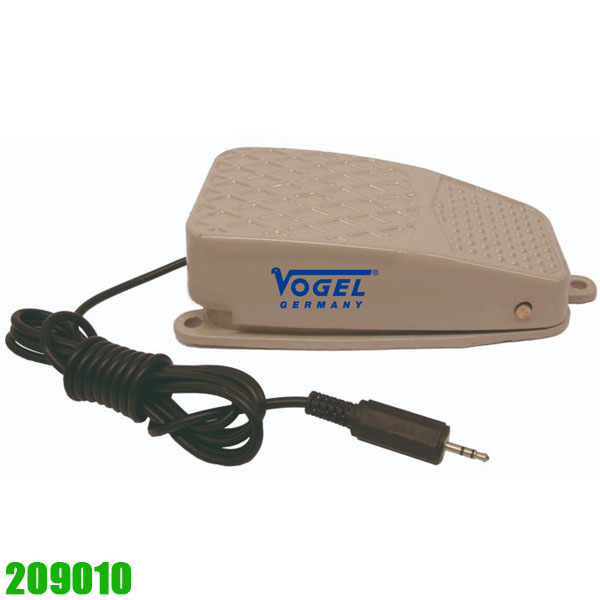 230139  Foot switch made of metal, with cinch plug. Vogel Germany