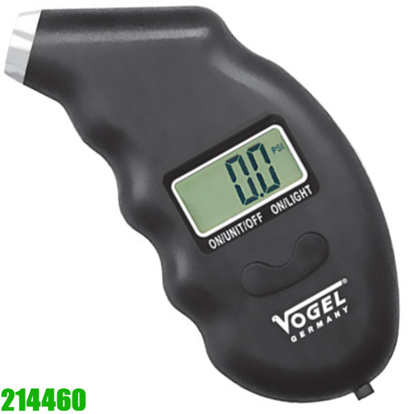 214460 Electr. Digital Tire Pressure Gauge. Vogel Germany
