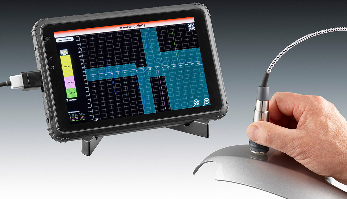 QuintSonic T - Ultrasonic coating thickness measurement