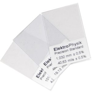 Calibration foils for Minitest thickness measurement - ElektroPhysik