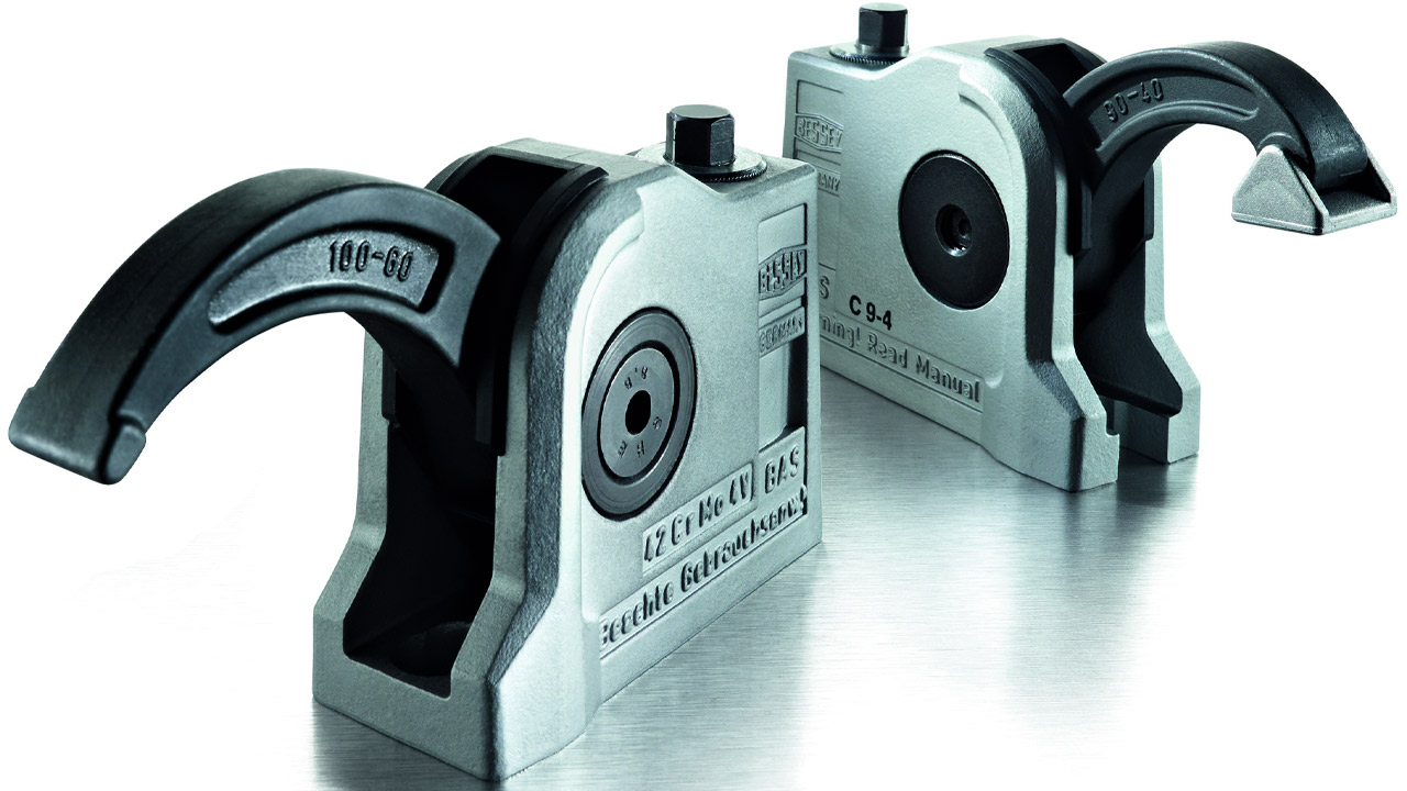 BAS‑C compact clamp, fixing hole open