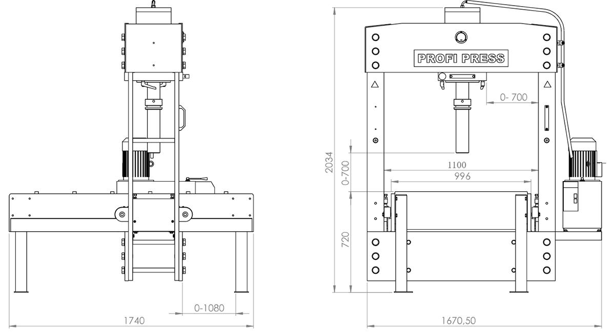 BETEX PFPE TL100 160 - Dimensions