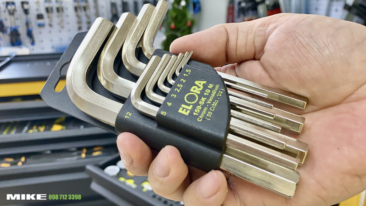 159SK-M Series Hexagon key set short type, DIN ISO 2936 Elora